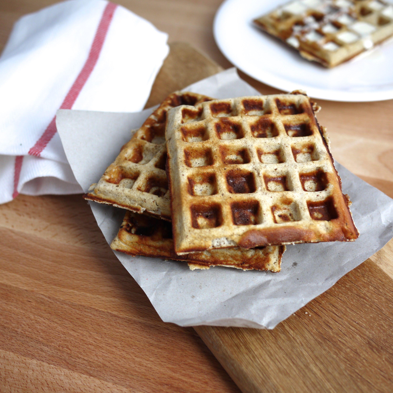 Banana batter waffles