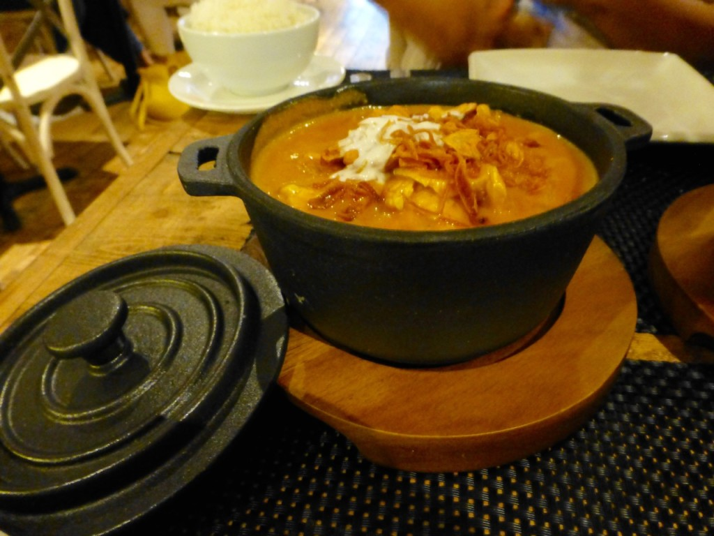 We tried the chicken massaman curry on opening night