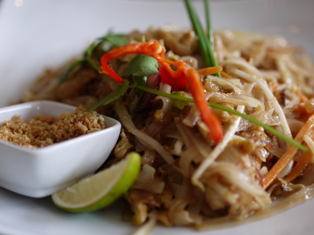 The chicken pad thai was exceptionally good